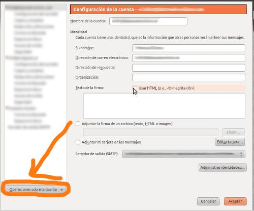 Configuración de cuenta de correo en Mozilla Thunderbird como POP3