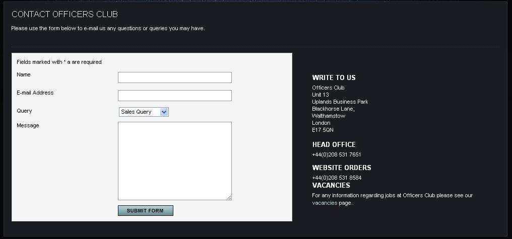 campos formulario
