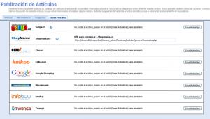comparadores precio - administrador tienda virtual Dataweb