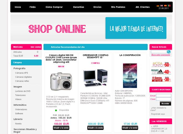 crear tienda virtual dataweb
