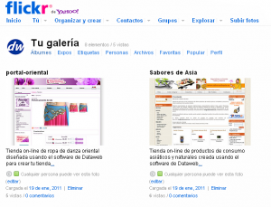 Dataweb en Flickr