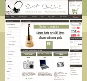 Plantilla tienda virtual Dataweb
