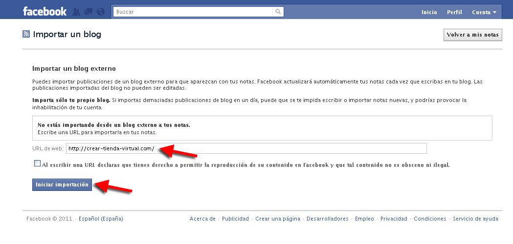 notas facebook