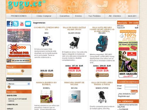Tienda on-line de artículos para bebés