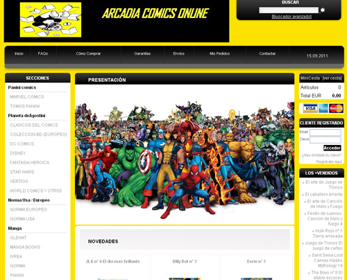 Tienda online de comics ARCADIACOMICSONLINE