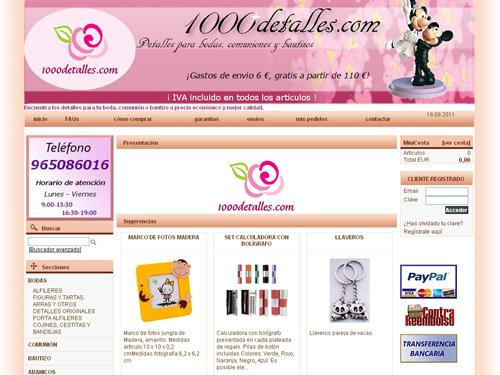 tienda online - detalles boda