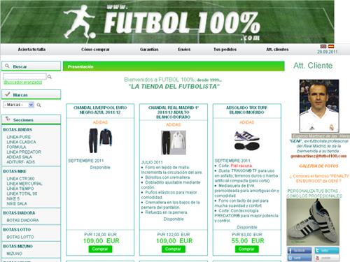 tienda online fútbol