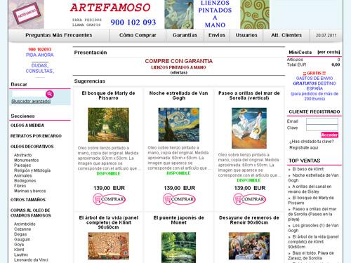 tienda online - artefamoso.com