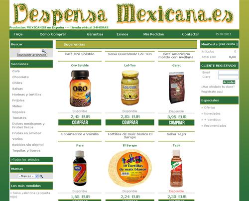 tienda virtual de alimentos mexicanos - Despensa Mexicana