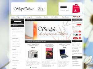 Plantilla tienda online perfume Dataweb