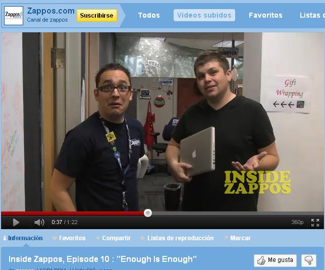 zappos en youtube